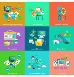 Business flat concepts set vector