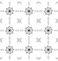 Abstract pattern in oriental style design wall vector