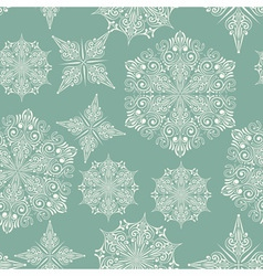 Seamless winter pattern with snowflakes vector