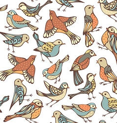 Seamless pattern of various birds vector
