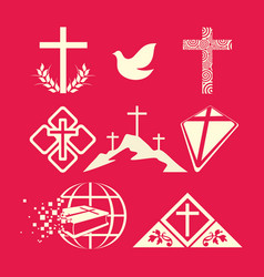 A big set of christian symbols vector