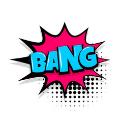 Bang comic text white background vector
