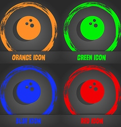 Bowling game ball icon fashionable modern style in vector