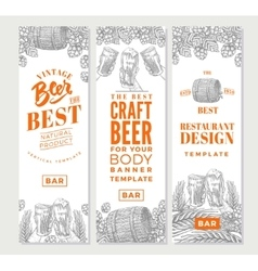 Brewing Vertical Banners vector image vector image