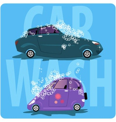 Car wash vector image