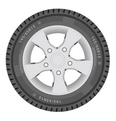 Car wheel cartire isolated on a white background vector