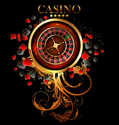 casino advertising design vector image vector image