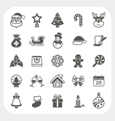 Christmas and Winter icons set vector image vector image
