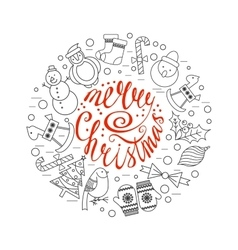 Christmas frame template card vector image vector image