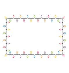 Christmas lights frame vector