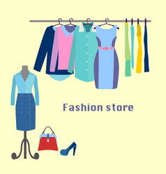 clothing store boutique indoor vector image