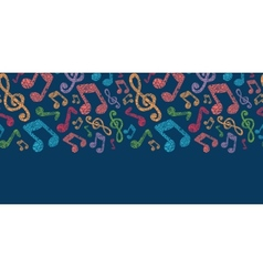Colorful musical notes seamless pattern background vector image