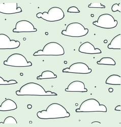 Cute clouds seamless pattern vector