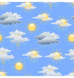 Day weather seamless background vector