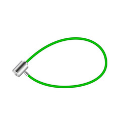 Green bicycle lock vector