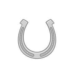 Horseshoe icon black monochrome style vector
