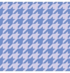 Houndstooth tile blue background wallpaper vector image