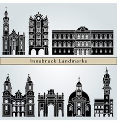 Innsbruck landmarks and monuments vector
