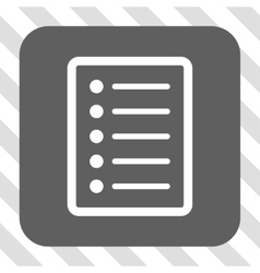 List page rounded square button vector