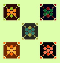 Ludo board game collection vector