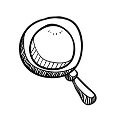 Magnifying glass doodle draw vector