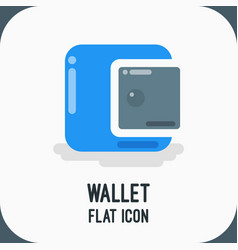 material design icon of wallet icon flat vector image vector image