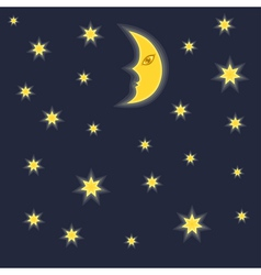 Moon and stars vector