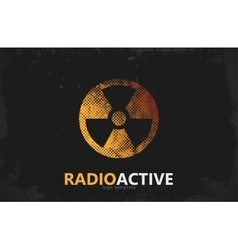 Nuclear logo radioactive logo design radiation vector