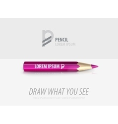 pencil premium ad product template vector image vector image