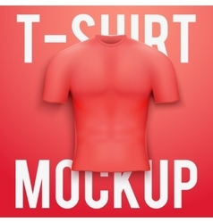 Red t-shirt on background product mockup vector