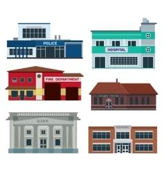 Service city buildings vector image vector image
