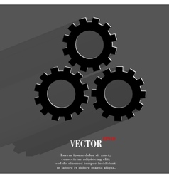 Settings Sign web icon flat design vector image