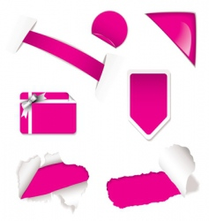 shop sale elements pink vector image