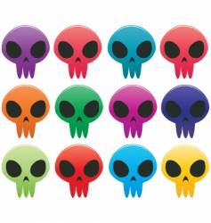 skull icons vector image vector image