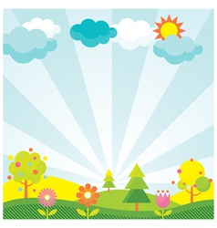 Spring Season Object Icons Background vector image