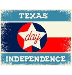 Texas independence day vector