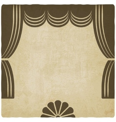 theater stage with curtains old background vector image