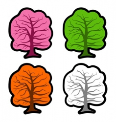tree elements vector image vector image