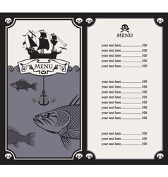 Menu with sailboat vector