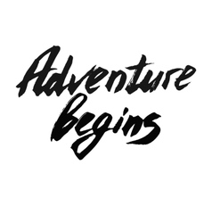 Adventure begins decorative card vector