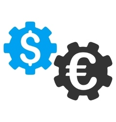 International financial mechanics flat icon vector