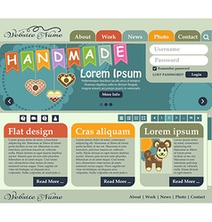 Web design elements in retro style shades of green vector