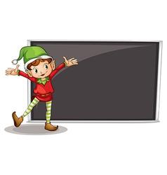 A dwarf standing at the left side of an art board vector