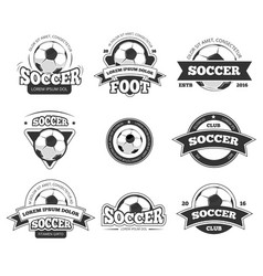 football soccer club logo badge templates vector image