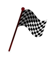 racing flag flat shadow vector image