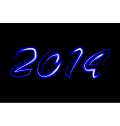 2014 neon glowing vector image