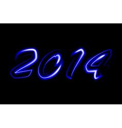 2014 neon glowing vector image
