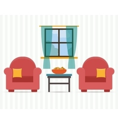 Chairs with small table vector