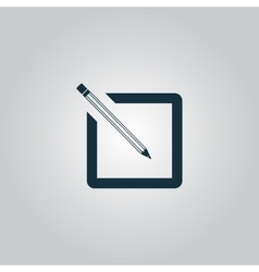 Simple registration icon vector