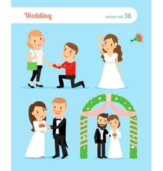 Wedding pictures proposal of marriage vector